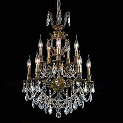 New Crystal Chandelier Marseille Antique 10 Lts 21x28