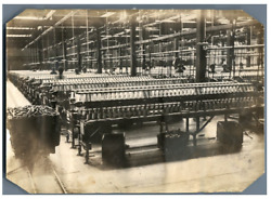 Japan Japanese Women Working In A Spinning Factory Vintage Silver Print. Femmes