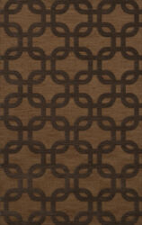 Yellow Rectangles Loops Rounded Squares Transitional Area Rug Geometric Dv7