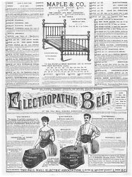 Victorian Adverts Maple And Co Beds, Electropathic Belt - Antique Print 1885