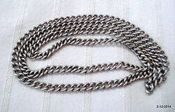 Vintage Antique Tribal Old Silver Chain Necklace Handmade Traditional Jewelry
