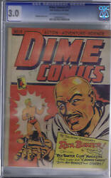 Dime Comics 13 Bell Features Pub. Cgc 3.0good/very Good,rare Canadian Edition