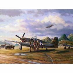 Tiger Sharks Of China Jim Laurier Flying Tigers Print Co-signed By Tex Hill