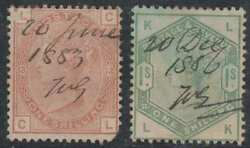 Gb Sc 87 Plate 13 And 107 Pen Cancelled Same Post Master Vf And Unusual Scv400.00
