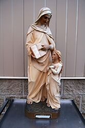 + Antique Plaster Statue of