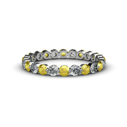 Floating Sapphire And Diamond Eternity Ring Stackable 1.75 Ctw 14k Gold Jp14110