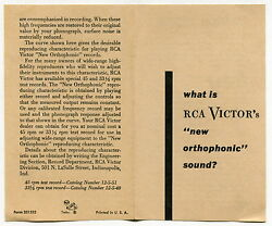1950s Brochure What Is Rca Victor's New Orthophonic Sound