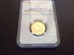 1996 W 5 Gold Olympic Stadium Commemorative Ngc Ms70 Perfect Coin