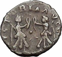 Valentinian Ii 383ad Thessalonica Victory Angels Ancient Roman Coin I47809