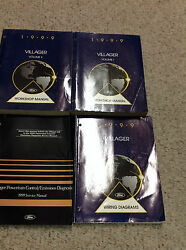 1999 FORD MERCURY VILLAGER Service Shop Repair Workshop Manual Set W EWD