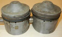1959 Matchless G12 650cc Used 72mm +.060 Bore Hepolite 13829 Pair Pistons -117