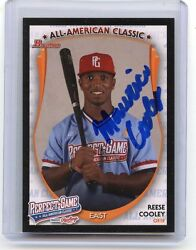 2013 Bowman Rawlings Perfect Game Pg-rc Reese Cooley Aflac Autograph Rc A