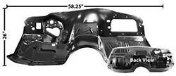 Chevy Chevelle Buick Olds Pontiac Firewall Lower No A/c 1966-1967