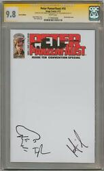 Peter Panzerfaust 10 Cgc 9.8 Signature Series Signed Wiebe And Jenkins Sketch