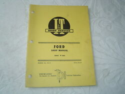 Ford 8000 Tractor Service Shop Manual