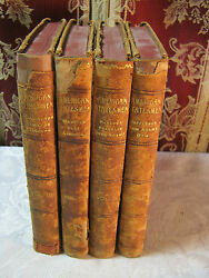 American Statesmen True Stories Of American History Leather Antique Book Set T