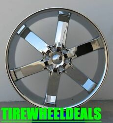 24 Inch U2 55 Chrome Wheels Rims And Tires Fit 6 X 139.7 Truck Or Suv Deal