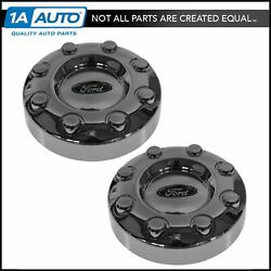 Oem Wheel Cover Center Hub Cap Pair Set Of 2 Lh Rh For Ford Super Duty 2wd Drw