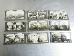 Lot Of 9 Keystone View Co Military/ Navy Ships Wounded Soldiers Stereoviews Sv9