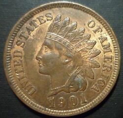 1901 Bu Indian Head Cent Snow 9 - Buy It Now - Additional Coins Ship Free