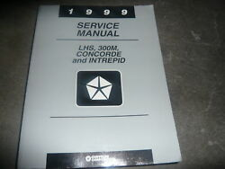 1999 Chrysler LHS 300M Concorde Intrepid Shop Service Shop Repair Manual OEM