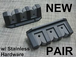 3 Place Boat Fishing Pole Rod Rack Storage Holder Foam Pair And Stainless Hardware