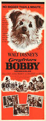 GREYFRIARS BOBBYSKYE TERRIER original 1961 DISNEY 14x36 insert movie poster