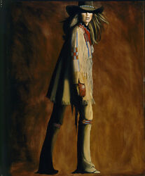 Crow War Shirt By David Devary Western Cowgirl 28x36 Inches Le S/n Canvas Giclee