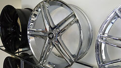 22 X 8.0 Inch 5179 White Diamond Edition Chrome Wheels Rims And Tires Fit 5x114.3