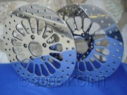 11.8 Spoke Front Brake Rotor Pair W/bolts Harley Touring Baggers Flhx Flt 08-up