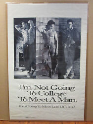 Vintage 1992 Meet A Man original funny hot guy dorm poster 9261