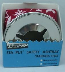 Aqua Meter Ash Tray Red Windproof Stainless Steel Weighted Bean Bag