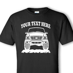 Ford Ranger - 1999 - 2003 4x4 Offroad Personalized Cotton T-shirt - Or001
