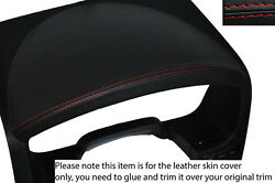 RED STITCH INSTRUMENT HOOD LEATHER SKIN COVER FITS FORD F150 F-150 2004-2008