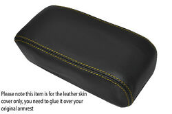 Yellow Stitch Armrest Lid Skin Cover Fits Honda Accord 90-91 And Integra 90-93