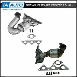 Exhaust Manifold w Catalytic Converter Front Rear PAIR for Eclipse Galant 3.8L