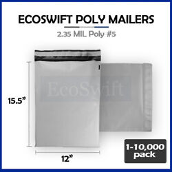 1-10000 12 X 16 Ecoswift Poly Mailers Envelopes Plastic Shipping Bags 2.35 Mil