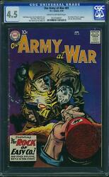 Our Army At War 81 Cgc 4.5 Dc 1959 Sgt. Rock Prototype Dark Cover 241 Cm Clean