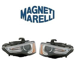 For Audi A5 Rs5 Set Of Left And Right Headlight Assembly-xenon Oem Marelli