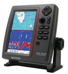 Si-tex Lcd Color Chartplotter / Fishfinder With External Gps Antenna Svs-760cf