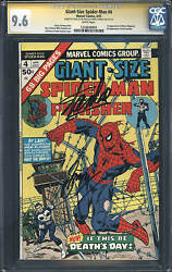 Giant-size Spider-man 4 Cgc 9.6 1975 Stan Lee Signature 3rd Punisher E6 H10 Cm