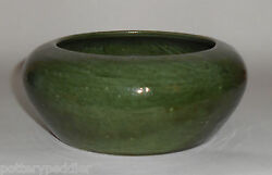 Bauer Pottery Early Dark Green Low Art Bowl Mint