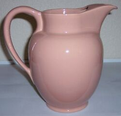 Franciscan Pottery El Patio Gloss Coral Ice Lip Water Pitcher