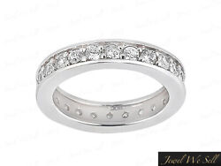 0.95ct Round Brilliant Cut Diamond Eternity Band Ring Solid 14k Gold H Si2