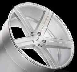22x9 Varro Vd05 5x112mm +32 Matte Silver Brushed Face Wheels Set Of 4