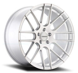19x9.5 Varro Vd08 5x114.3mm +38 Matte Silver Brushed Face Wheels Set Of 4