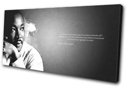 Iconic Celebrities Martin Luther Single Canvas Wall Art Picture Print Va