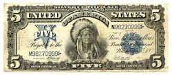 1899, 5 Fr 279 Large Size Silver Certificate