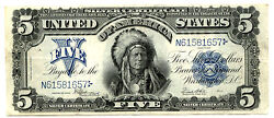 1899, 5 Fr 281 Large Size Silver Certificate