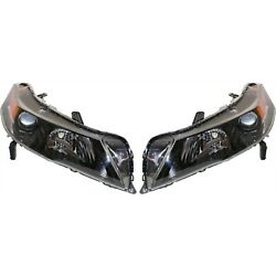 Headlight Set For 2012 2013 2014 Acura Tl Sh-awd Model Left And Right Hid 2pc